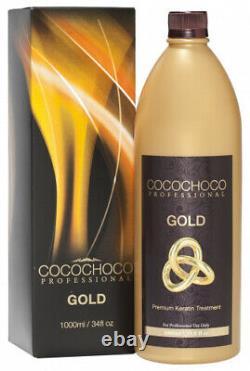 (1000ML, Gold) COCOCHOCO Brazilian Keratin Hair Treatment (1000ML, Gold)