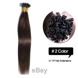 100s Pre Bonded Keratin Stick I Tip Nail U Tip Remy Real Human Hair Extensions