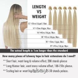 14-30 Pre Bonded U Nail Tip Keratin 100% Remy Brazilian Human Hair Extensions