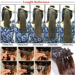 16-24 THCK Pre Bonded Keratin Nail U Tip 100% Remy Human Hair Extensions Ombre