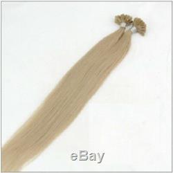1 Gram Natural Human Hair Extension Long Pre Bonded Keratin Glue Remy U Tip Nail