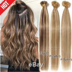 200S/200G Fushion Pre Bonded 100% Remy Human Hair Extensions U-Tip Nail Keratin