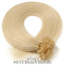 200 Strands Pre Bonded Keratin Human Hair Extensions U-Tip Extensions Bonding US