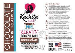 2 Bottles Brazilian Keratin Treatment CHOCOLATE 32 fl oz 946 mL Kachita Spell