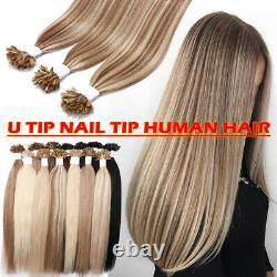 300S US Soft Brazilian Pre Bonded Nail U Tip Keratin Remy Human Hair Extensions