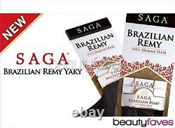 (30cm, OT530) Saga Brazilian Keratin Remy Human Hair Weave REMY YAKY 30cm