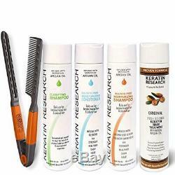 4 Bottles 300ml Brazilian Keratin Blowout Hair Treatment Value Kit Free Shipping