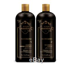 (84,50/L) INOAR G Hair Brazilian Moroccan Keratin 2 x 1 L Keratin & Shampoo