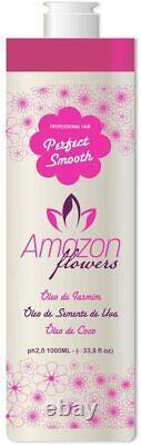 AMAZON FLOWERS PERFECT SMOOTH 33.8 Oz 1 KG BRAZILIAN HAIR PROTEIN 0% forml
