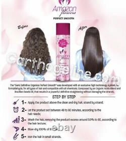 AMAZON FLOWERS PERFECT SMOOTH 33.8oz 1L BRAZILIAN HAIR PROTEIN 0% formal