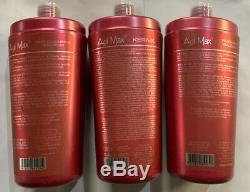 Agi Max Brazilian Keratin Hair Treatment Kit 1 liter 3 Steps 3 x 1000ml Kera-x