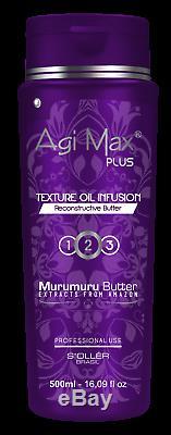 Agi Max Plus Brazilian Keratin/Hair Straightening ONLY STEP 2 x500ml -Bestseller