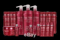 Agimax Brazilian Keratin/Hair Straightening Kit 3 Steps x500ml Each ON SALE