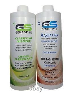 Aqualisa, Gems Style, Hair Smoothing Brazilian Blowout Formaldehyde free 34oz/1L