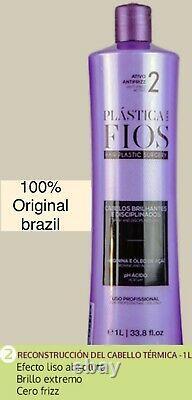 BRAZILIAN KERATIN CADIVEU PLASTICA DOS FIOS HAIR STRAIGHTENING STEP 2 +MASK 500g