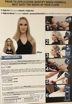 BRAZILIAN KERATIN/SMOOTHING TREATMENT Blond Truss High Liss 650ml FRIZZ FREE