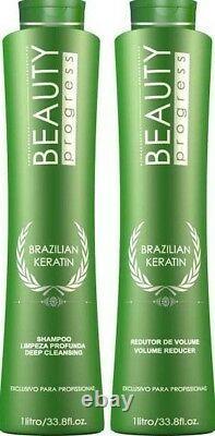 Beauty Impressive Brazilian Keratin Blowout treatment 2 x 33.8oz FORMOL FREE