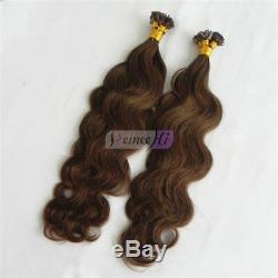 Body Wave Hair New Keratin Human Fusion Hair Flat Tip Human Hair Extension 100g