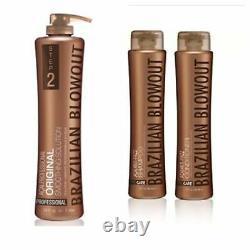 Brazilian Blowout original professional straightening solution 12 ounce 3 pc set