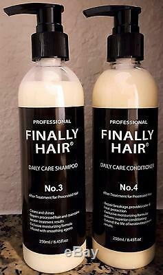 Brazilian Hair Sulfate Free Shampoo & Conditioner Keratin Straightening Smooth