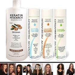Brazilian Keratin Blowout Straightening Smoothing Hair Treatment 4 Bottles Kit