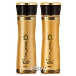 Brazilian Keratin Cure Gold and Honey Bio 0% Hair Treatment 2 Piece Kit 5 oz