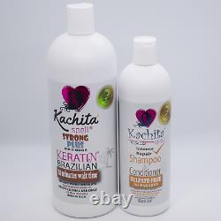 Brazilian Keratin Treatment Kachita Spell Chocolate 32floz+ Shampoo Conditioner
