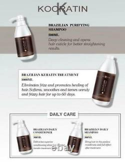Brazilian Keratin Treatment Set Smoothing Straightening 4 Step Shampoo Condition