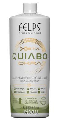 Brazilian Progressive Brush Okra Felps Profissional Formaldehyde Free Smoothing