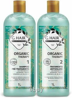 Brazilian Straightening Keratin Treatment, Organic Therapy Volume Reducer 1LT