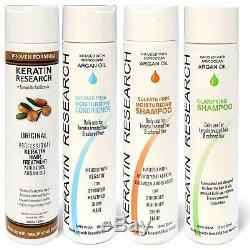 Brazilian complex Hair Keratin Treatment SET Moroccan Argan Oil 300 ml. FAST SHIP