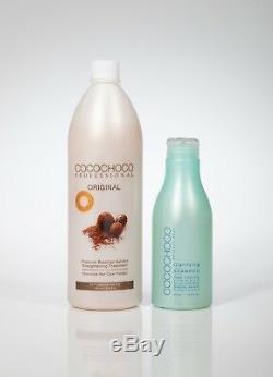 COCOCHOCO Brazilian Keratin Hair Treatment 34oz + Clarifying Shampoo 13.5oz