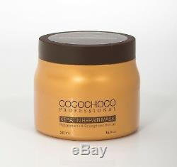 COCOCHOCO Brazilian Keratin Treatment 34oz + Hair Repair Keratin mask 17oz