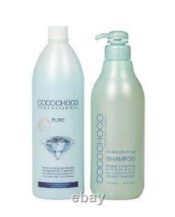 COCOCHOCO Brazilian Keratin Treatment PURE 1000 ml, Clarifying Shampoo 1000 ml