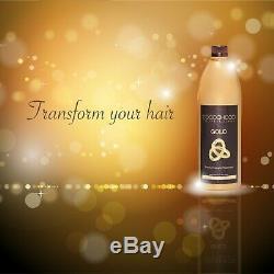 COCOCHOCO Pro GOLD + PURE Brazilian Keratin Straight Hair Treatment 2x1000ml