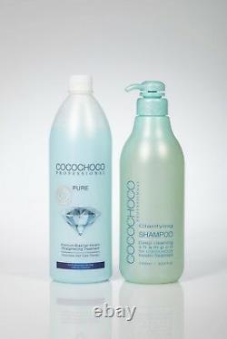 COCOCHOCO Pure Brazilian keratin treatment 34oz + cleansing shampoo 34oz