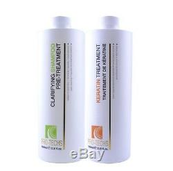 COCONUT BRAZILIAN ORGANIC KERATIN For BLONDE HAIR + Clarifying 33.8oz/ 1000ml