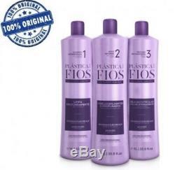 Cadiveu Brazilian Keratin Plastica Dos Fios Treatment Hair Straightening 3 Steps