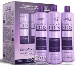 Cadiveu Brazilian Keratin Plastica Dos Fios Treatment Hair Straightening 4 Pcs