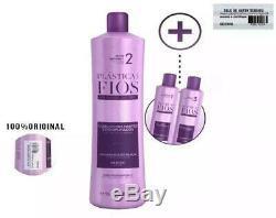 Cadiveu Brazilian Keratin Plastica Dos Fios Treatment Kit Hair Straightening