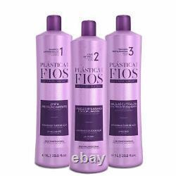Cadiveu Plastica dos Fios Brazilian Keratin Box kit hair treatment 3x1L 34oz