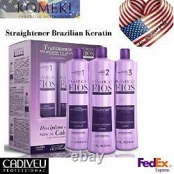 Cadiveu Plastica dos Fios Straightener Brazilian Keratin Strand Treatment 3 x 1L