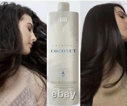 Coconut Brazilian Keratin Blow Dry Hair Straightening Treatment Kit 34oz + Argan