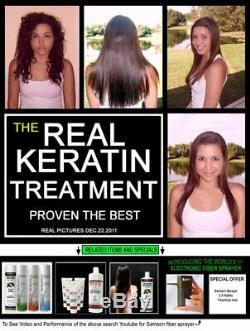 Complex Brazilian Keratin Blowout Hair Treatment 4 Bottles 300ml Value Kit Free