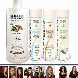 Complex Brazilian Keratin Hair Treatment 4 Bottles 1000Ml Kit Includes Sulfate F