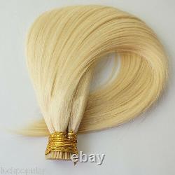 Double Drawn Brazilian Remy Human Hair Extensions Keratin Stick I Tip Hair 1g/s