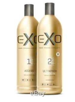 Exo Hair Professional Ultratech Keratin Brazilian exoplastia 2X 500ML FAST SHIPS