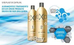 Exo Hair Professional Ultratech Treatment Keratin Brazilian 2 X 1Lt. Free FedEx