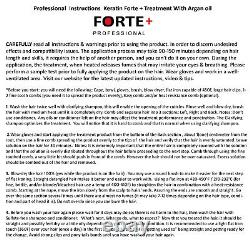 Extra Strength Keratin Forte Treatment 480ml Brazilian Blowout Clarifying 120ml