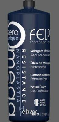 Felps Omega Zero Resistance Nanoplastia Brazilian Keratin 1liter 34 floz + BOTX